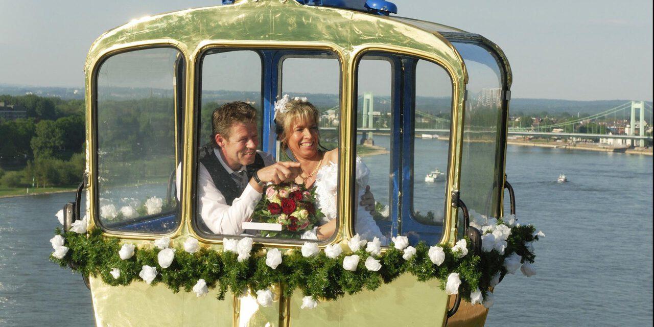 Heiraten in der Kölner Seilbahn